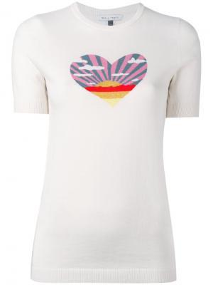 Трикотажная футболка Bella Freud. Цвет: телесный