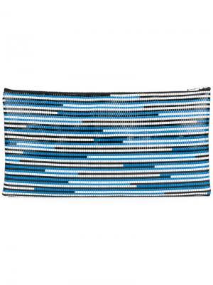 Плетеный клатч Wanda Nylon. Цвет: синий
