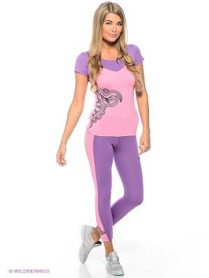 Леггинсы Sport Vision. Цвет: фиолетовый, бледно-розовый