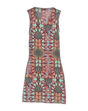Короткое платье MISS BIKINI. Цвет: верблюжий