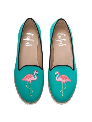 Слиперы - Фламинго(В) Lucifer's shoes. Цвет: бирюзовый