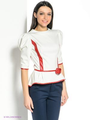 Блузка SUGARLIFE. Цвет: белый, красный