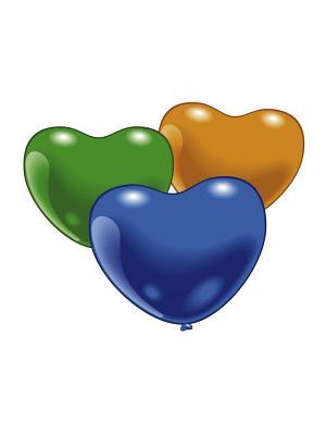 10 разноцветных шариков Сердечки Everts. Цвет: красный