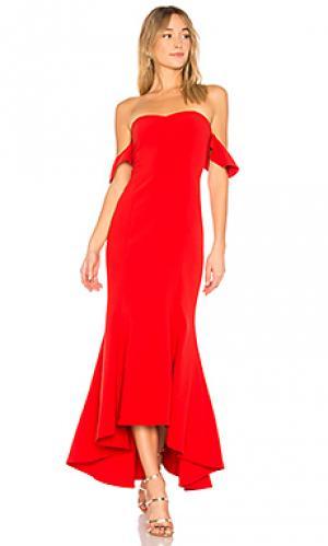 Вечернее платье с открытыми плечами sunset LIKELY. Цвет: красный