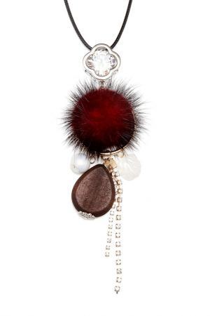 Колье Asavi Jewel. Цвет: черный, бордовый, белый