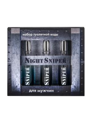 Подарочный набор для мужчин Night Sniper 3*20 мл. ПонтиПарфюм. Цвет: черный