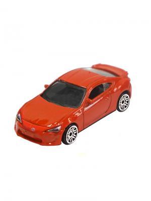 Машинка Toyota GT-86, Оранжевая (1:64) (PS-0616617-O) Pit Stop. Цвет: оранжевый