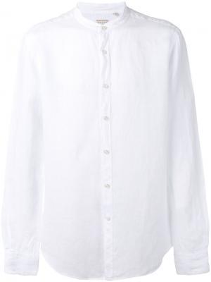 Рубашка с узким воротником-стойкой Xacus. Цвет: белый