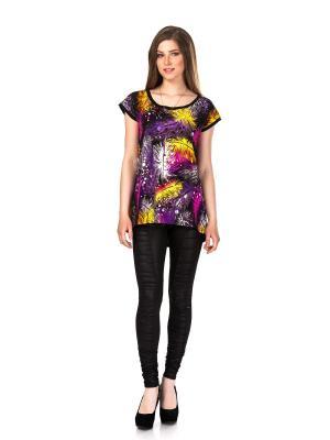 Кофточка Leya. Цвет: темно-фиолетовый, черный