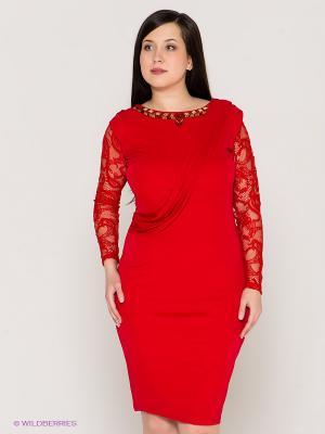 Платье VERDA. Цвет: красный
