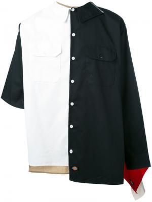 Асимметричная рубашка Liam Hodges. Цвет: многоцветный