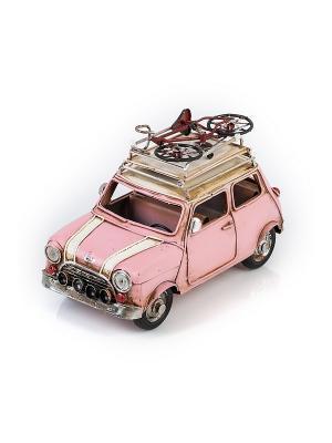 Модель Ретро Автомобиль розовый, с фоторамкой 4х7см PLATINUM quality. Цвет: розовый