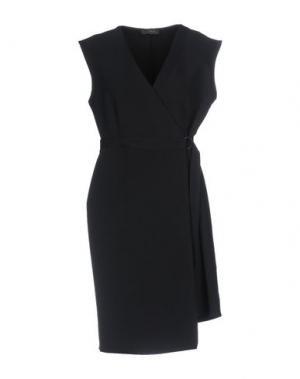 Короткое платье SOALLURE. Цвет: темно-синий