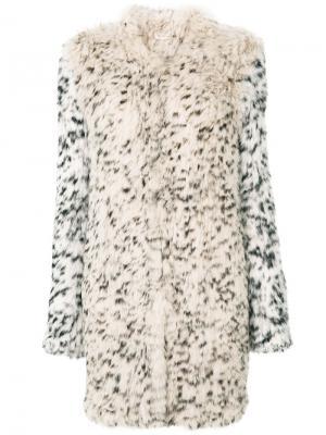 Leopard print fur coat Ulla Johnson. Цвет: телесный