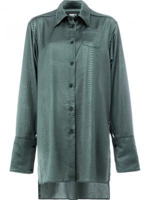 Рубашка с эффектом крокодиловой кожи Yang Li. Цвет: зелёный
