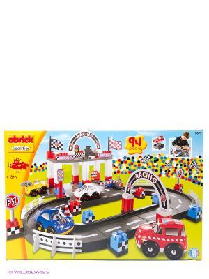 Конструктор гоночный трек, 71*61,5*27см, 94 пр., 1/4 Ecoiffier. Цвет: черный, красный