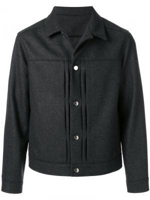 Куртка на пуговицах Harmony Paris. Цвет: серый
