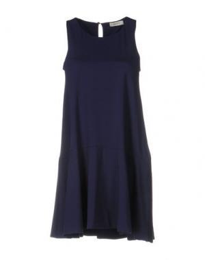 Короткое платье ALPHA STUDIO. Цвет: темно-синий