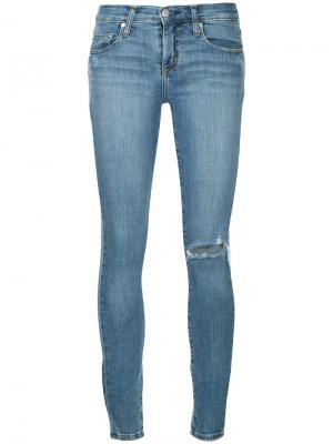 Укороченные облегающие джинсы Geo Nobody Denim. Цвет: синий