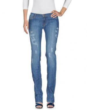 Джинсовые брюки LORNA BoSE'. Цвет: синий