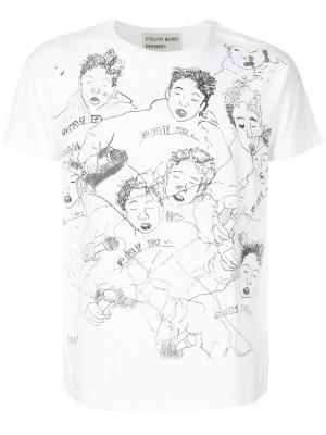 Illustration print T-shirt Enfants Riches Déprimés. Цвет: белый