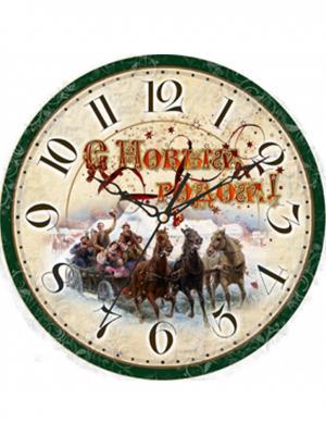 Часы настенные Михаилъ Москвинъ. Цвет: светло-бежевый