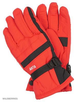 Перчатки ANTA. Цвет: красный