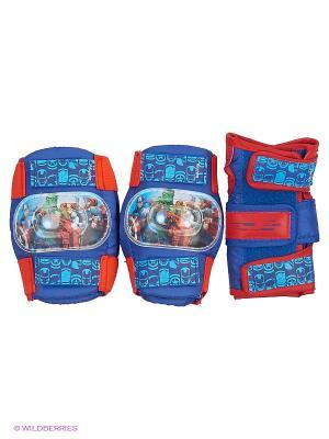 Комплект защиты marvel. мстители для колен, локтей, запястий, р-р s в сетчатой сумке Marvel. Цвет: красный, синий