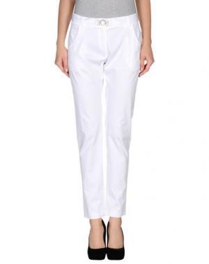 Повседневные брюки AGATHA CRI. Цвет: белый
