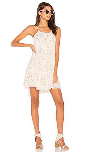 Платье со сборками sun beam Stillwater. Цвет: белый