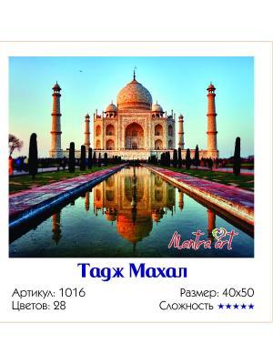 Живопись на холсте Тадж Махал + диск в подарок MantraArt. Цвет: белый
