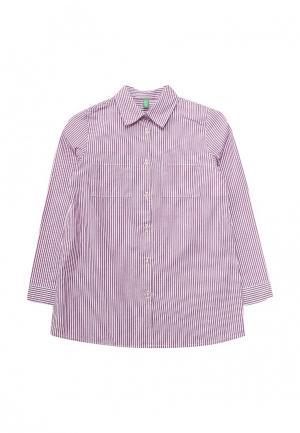 Рубашка United Colors of Benetton. Цвет: фиолетовый
