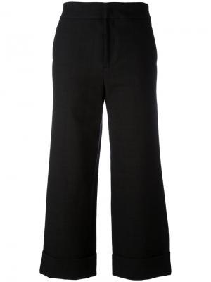 Широкие укороченные брюки Pt01. Цвет: синий