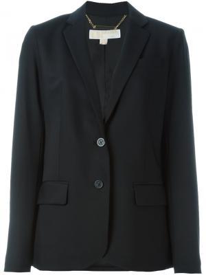 Пиджак с заостренными лацканами Michael Kors. Цвет: чёрный