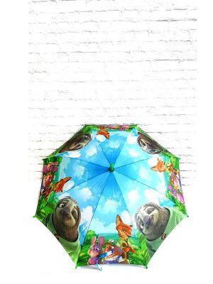 Зонт детский NeKi. Цвет: синий, лазурный, светло-зеленый