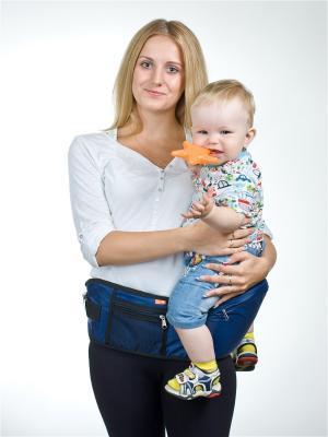 Пояс для ношения ребенка Хипсит Чудо-Чадо. Цвет: синий