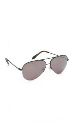 Классические небольшие солнцезащитные очки-авиаторы Victoria Beckham