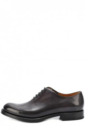 Классические кожаные оксфорды O`Keeffe. Цвет: серый