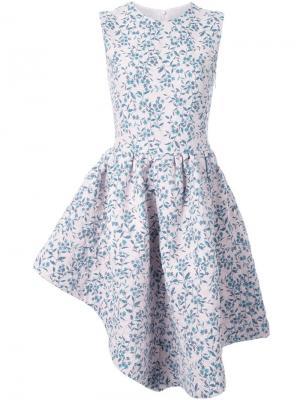 Асимметричное платье Duvet Jourden. Цвет: розовый и фиолетовый