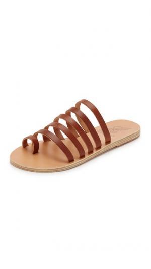 Сандалии Niki на плоской подошве Ancient Greek Sandals. Цвет: коричневый