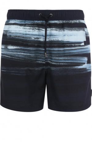 Плавки-шорты с принтом Ermenegildo Zegna. Цвет: синий