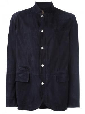 Куртка с карманами клапанами Brunello Cucinelli. Цвет: синий