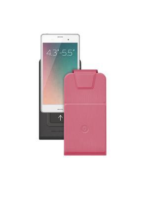 Чехол для смартфонов универсальный Flip Slide M Deppa. Цвет: розовый