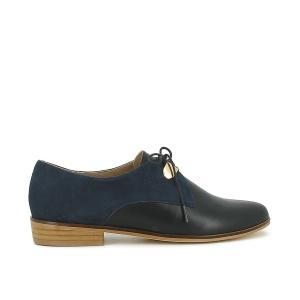 Ботинки-дерби кожаные на шнуровке, Divya JONAK. Цвет: коньячный,синий морской