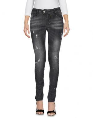 Джинсовые брюки MELTIN POT. Цвет: свинцово-серый