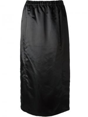 Прямая юбка средней длины Comme Des Garçons Vintage. Цвет: чёрный