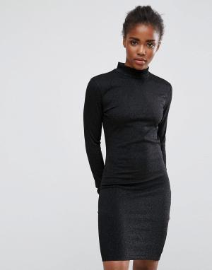 MbyM Платье с завышенной талией. Цвет: черный