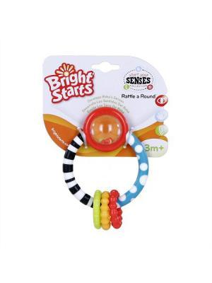 Развивающая игрушка - прорезыватель Колечко BRIGHT STARTS. Цвет: белый, голубой, красный, черный