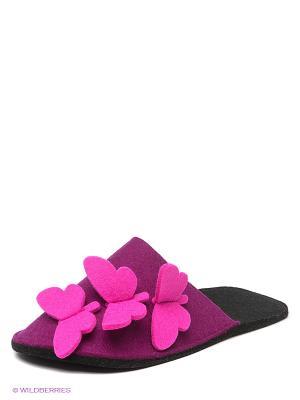 Тапочки Feltimo. Цвет: фиолетовый, розовый, черный