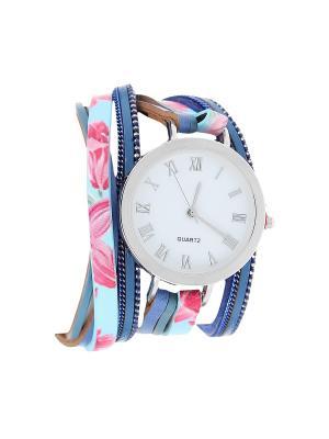 Браслет-часы Olere. Цвет: серебристый, розовый, синий